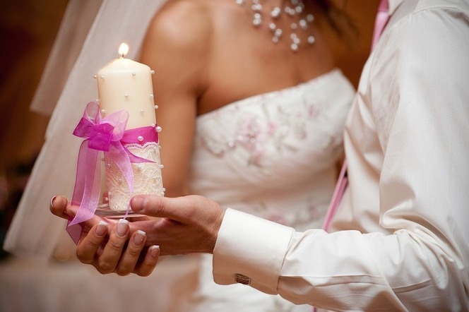 Свечи на свадьбу своими руками фото